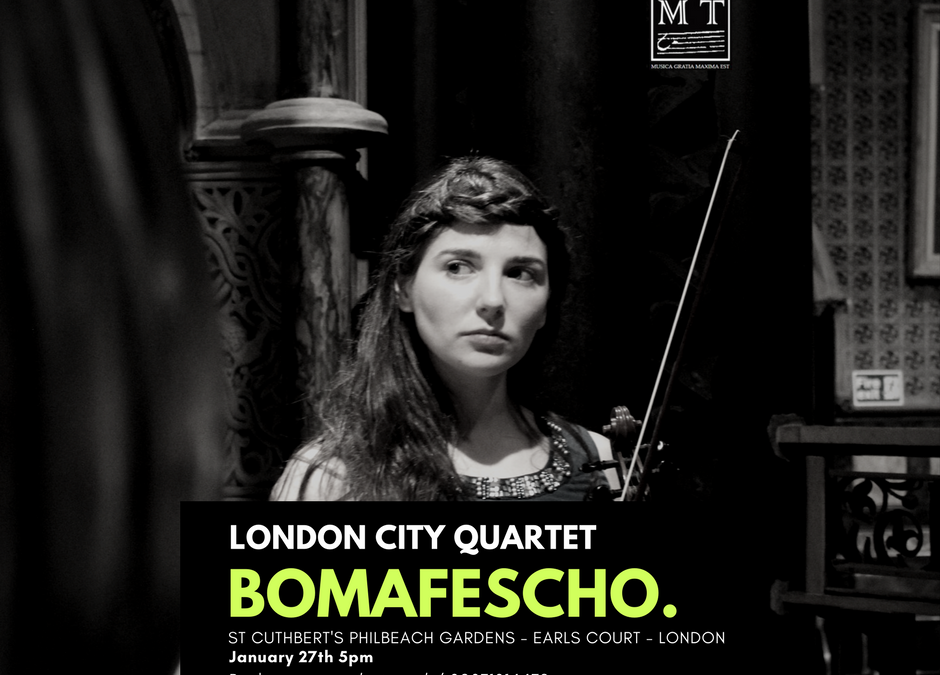 BOMAFESCHO 27.01.2018 5pm – St. Cuthbert's / London